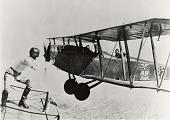 "view Exhibition Flight, Barnstorming, Wingwalking and Stunting; Ingle, Gladys; Goebel, Arthur C. ""Art""; Curtiss JN-4D Jenny. [photograph] digital asset number 1"