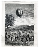 view LTA, Balloons, France, Montgolfier Brothers, 1st Unmanned Flight, Annonay (4 Jun 1783). [negative] digital asset number 1
