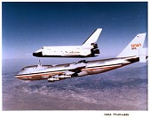 view Space Shuttles, Enterprise (OV-101); Boeing Model 747-100 Shuttle Carrier Aircraft (SCA) (NASA 905). [photograph] digital asset number 1