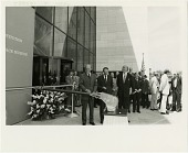 view Museums, Smithsonian, Events, NASM Building Opening (4 Jul 76); Ford, Gerald Rudolph, Jr.; Collins, Michael. [photograph] digital asset number 1