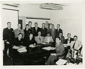 view Orbiter Project; Hoover, George W. (Commander); Durant, Frederick C., III; Kendrick, J. B.; Heller, Gerhard B.; von Braun, Wernher Magnus Maximilian; Satin, Alexander; Truax, Robert Collins (Commander); Whipple, Fred Lawrence (Doctor); Rosen, Milton W.. [photograph] digital asset number 1