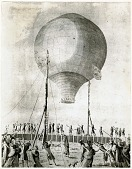 "view LTA, Balloons, France, Montgolfier (Joseph), ""Le Flesselles"" (19 Jan 1784). [photograph] digital asset number 1"