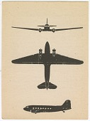 view Douglas C-47 Skytrain Family; Education, Type Recognition, Flash Cards, Aircraft Recognition Training Cards, WWII, USA. [ephemera] digital asset number 1