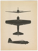view Mitsubishi A6M3 Model 32 Reisen Hamp (Hap, Zeke 32) (Type 0 Carrier Fighter 32); Education, Type Recognition, Flash Cards, Aircraft Recognition Training Cards, WWII, USA. [ephemera] digital asset number 1