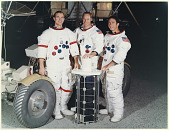 "view Apollo 15 Flight, Crew; Scott, David Randolph ""Dave""; Worden, Alfred Merrill; Irwin, James Benson; Apollo Project, Astronauts. [photograph] digital asset number 1"