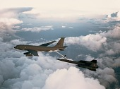 view Boeing KC-135A Stratotanker; Lockheed SR-71A (Blackbird); Aerial Refueling. [photograph] digital asset number 1