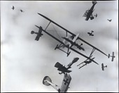 """view Wars, World War I (WWI), Aerial Combat, Cockburn-Lange Hoax (Wes Archer); Arts and Literature, Books, """"Death In The Air"""" (1933). [photograph] digital asset number 1"""