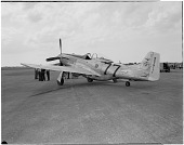 view North American P-51D (F-51D) Mustang; Events, National Air Races (Cleveland, OH, 1920-1949). [photograph] digital asset number 1