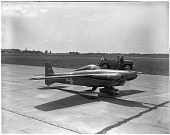 """view Levier Cosmic Wind """"Minnow"""" (N21C); Events, 1949 Cleveland, OH, National Air Races. [photograph] digital asset number 1"""