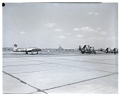 view McDonnell F2H-1 Banshee; Republic F-84 (P-84) Family; Events, National Air Races (Cleveland, OH, 1920-1949). [photograph] digital asset number 1