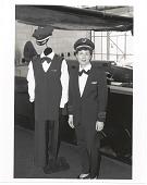 view United Air Lines (USA), 1990s; Exhibits, NASM, Civil Flight Crew Uniforms (In 102); Berkeley, Cynthia. [photograph] digital asset number 1