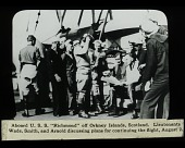 view Douglas World Cruiser (DWC), World Flight; Wade, Leigh; Smith, Lowell Herbert; Arnold, Leslie P.. [lantern slide] digital asset number 1