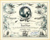 view Pan American World Airways Clipper Club Certificate and Letter digital asset: Pan American World Airways Clipper Club Certificate and Letter