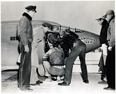 """view Yeager, Charles Elwood """"Chuck""""; Bell X-1 """"Glamorous Glennis"""". [photograph] digital asset number 1"""