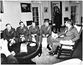 view Kennedy, John Fitzgerald; LeMay, Curtis Emerson; Cuban Missile Crisis; Aerial Photography. [photograph] digital asset number 1