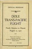 view Events, 1927 Oakland to Hawaii, Dole Race, Program. [ephemera] digital asset number 1