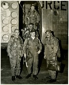 """view Campbell, Lawrence Edward """"Larry,"""" Jr.; Fairchild C-119 Flying Boxcar Family. [photograph] digital asset number 1"""