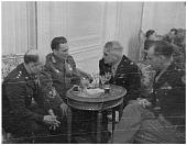 view Eaker, Ira C. (General); Kraigher, George (Colonel); Hall, William E. (General); Tito, Josip Broz (President). [photograph] digital asset number 1