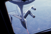 view Boeing KC-135 Family; Miscellaneous, Operations, Aerial Refueling; Convair B-58 Hustler Family. [photograph] digital asset number 1