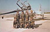 view Military Women Aviators Oral History Initiative (MWAOHI) digital asset: NASM 9A16958. First all-female T-38 4-ship flyby over Indianapolis Motor Speedway during the first convention of the Women Military Pilots Association, NASM.2020.0005