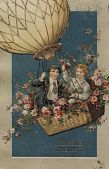 """view """"Birthday Greeting."""" Two boys up in a balloon digital asset: """"Birthday Greeting."""" Two boys up in a balloon"""