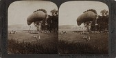 """view """"12301. Military balloon in the Champaign district - waiting for pilot"""" digital asset: """"12301. Military balloon in the Champaign district - waiting for pilot"""""""