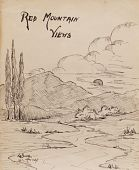 """view [""""Red Mountain Views"""" - Drawings and Poems] digital asset: [""""Red Mountain Views"""" - Drawings and Poems]"""