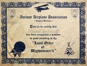 view Antique Airplane Association's Loyal Order of Wigwammers digital asset: Antique Airplane Association's Loyal Order of Wigwammers