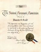 view Certificate of Appreciation and Recognition from the National Aeronautics Association digital asset: Certificate of Appreciation and Recognition from the National Aeronautics Association