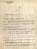 view Wright Brothers' Statement to Aero Club of America, Autographed by Orville Wright digital asset: Wright Brothers' Statement to Aero Club of America, Autographed by Orville Wright