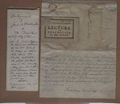 view Foulke Ticket and Washington Letter digital asset: Foulke Ticket and Washington Letter