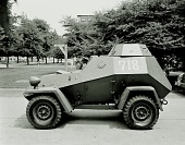 view Rudy Arnold Photo Collection; Soviet Armaments; Soviet; Armored car; BA-64. [photograph] digital asset number 1