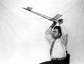 view Models, Flying, Free Flight, Rubber-Powered, Twin Pusher, Garber (Paul E.); Garber, Paul Edward. [photograph] digital asset number 1