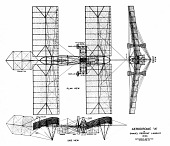 view Langley (Samuel P.) Aerodrome A, Three-View Drawing. [drawing] digital asset number 1