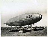 view LTA, Airships, UK, Rigid Airships, R 34; Events, 1919, Flights, Transatlantic, First North Atlantic Airship Crossing (UK R 34). [photograph] digital asset number 1