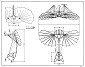 view Lilienthal (Otto) 1894-96 Glider Normal Segelapparat (Sailing Apparatus), Drawing. [photograph] digital asset number 1