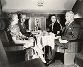 view Douglas DC-3, Interior, Passenger Cabin; United Air Lines (USA), Operations, Food Service. [photograph] digital asset number 1