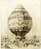 view LTA, Balloons, France, Montgolfier Brothers, 1st Free Ascent (Rozier & d'Arlandes) (21 Nov 1783). [photograph] digital asset number 1