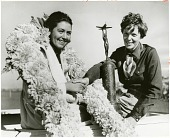 view Browning, Betty; Earhart, Amelia; Events, 1936 Los Angeles, CA, National Air Races; Awards and Trophies, Amelia Earhart Trophy. [photograph] digital asset number 1