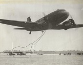 view Douglas C-47 Skytrain, Aerial Pick Up; Waco (OH) CG-4A Hadrian (NZR) (Haig) (G-4). [photograph] digital asset number 1