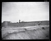 view California-Arabian Standard Oil Co. Saudi Arabia Expedition; Hufuf (Saudi Arabia); City Walls; Mosques. [photograph] digital asset number 1