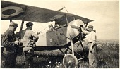 """view Rockwell, Kiffin Yates; NIEUPORT XI; Military, France, French Air Service, Units, Escadrille Lafayette (124), Soubiran Collection [Notebook """"Index: Lafayette Escadrille""""]. [photograph] digital asset number 1"""