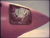 """view Yeager, Charles Elwood """"Chuck"""" (Captain); Bell X-1 """"Glamorous Glennis"""". [photograph] digital asset number 1"""