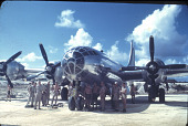 """view Boeing B-29 Superfortress, Silverplate, """"Enola Gay""""; Military, USA, Army Air Forces, Bases, Tinian. [slides (photography)] digital asset number 1"""