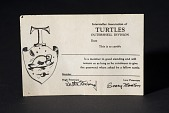 "view Card, Membership, ""Interstellar Association of Turtles"" digital asset number 1"