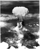 """view Wars and Conflicts, World War II, Pacific Theater, Japan, Nagasaki; Armament, Bombs, Atomic Bomb """"Fat Man"""" (Nuclear Weapon). [photograph] digital asset number 1"""