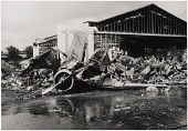 view Wars and Conflicts, World War II, Pacific Theater, Campaigns, Attack on Pearl Harbor; Military, USA, Army Air Forces, Bases, Wheeler Field (Hawaii), Wreckage and Battle Damage. [photograph] digital asset number 1