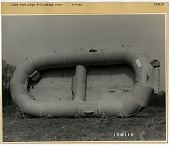 view Equipment, Emergency Rescue / Safety / Survival, Life Rafts / Lifeboats / Sea Rescue Equipment, Life Raft, Type E-2. [photograph] digital asset number 1