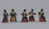 view Five figurines in the form of caricatured male musicians digital asset number 1
