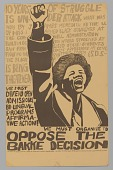 view Poster advocating opposition to the Supreme Court's Bakke Decision digital asset number 1